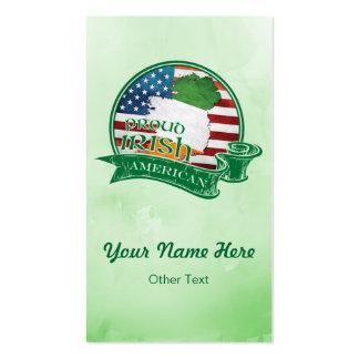 Proud Irish American Custom Business Cards