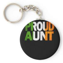 Proud Irish Aunt Gift Irish Design Irish Flag Keychain