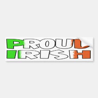 Proud Irish Car Bumper Sticker