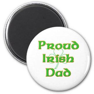 Proud Irish Dad 2 Inch Round Magnet