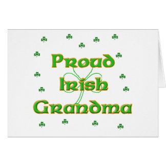 Proud Irish Grandma Card
