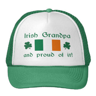 Proud Irish Grandpa Trucker Hat