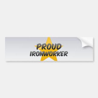Proud Ironworker Car Bumper Sticker