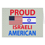 Proud Israeli American Greeting Cards