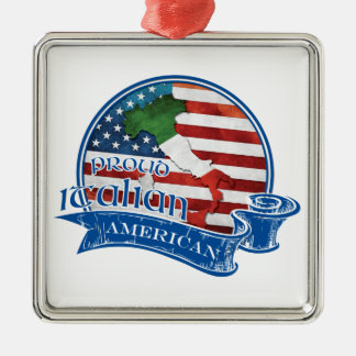 Proud Italian American Metal Ornament