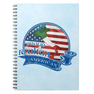 Proud Italian American Notepad Spiral Notebook