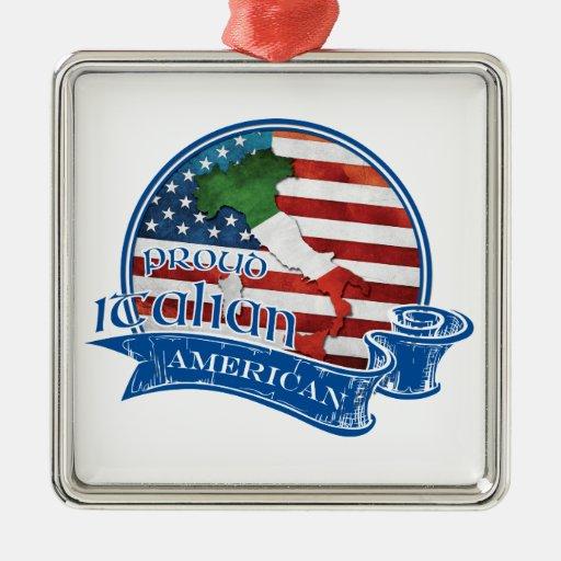 Proud Italian American Christmas Tree Ornaments