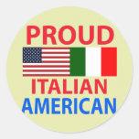 Proud Italian American Round Stickers