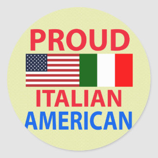 Proud Italian American Round Stickers