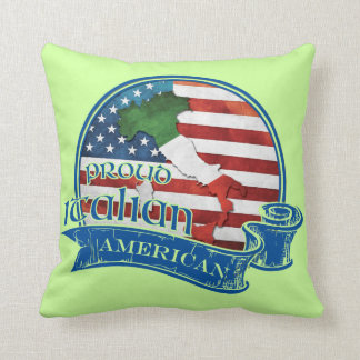 Proud Italian American Throw Pillow