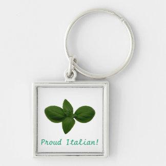 Proud Italian! Basil Leaf Keychain