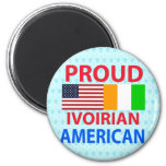Proud Ivoirian American Refrigerator Magnets