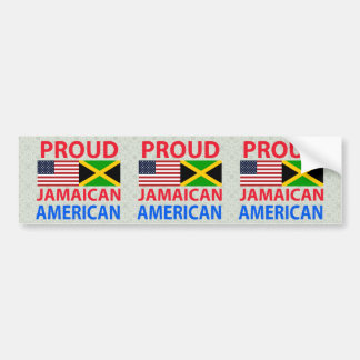 Proud Jamaican American Car Bumper Sticker