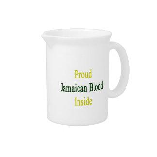 Proud Jamaican Blood Inside Drink Pitchers