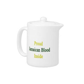 Proud Jamaican Blood Inside Teapot