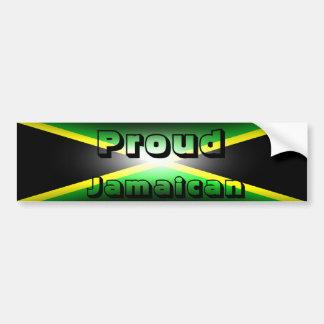Proud Jamaican Jamaica Bumper Sticker Car Bumper Sticker