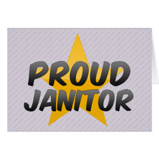 Proud Janitor Card