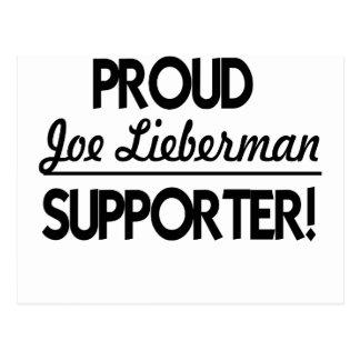 Proud Joe Lieberman Supporter! Postcard