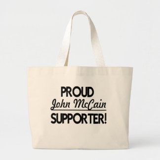 Proud John McCain Supporter! Canvas Bags