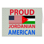 Proud Jordanian American Greeting Cards