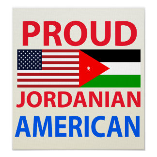 Proud Jordanian American Poster