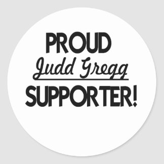 Proud Judd Gregg Supporter! Classic Round Sticker