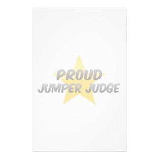 Proud Jumper Judge Custom Stationery