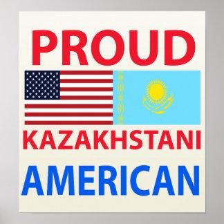 Proud Kazakhstani American Posters