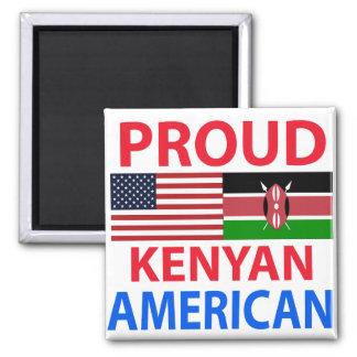 Proud Kenyan American 2 Inch Square Magnet