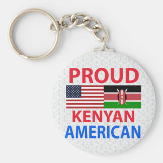 Proud Kenyan American Basic Round Button Keychain