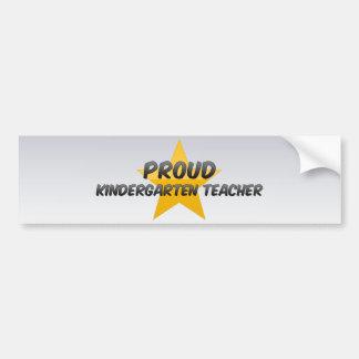 Proud Kindergarten Teacher Bumper Stickers