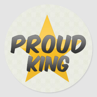 Proud King Classic Round Sticker