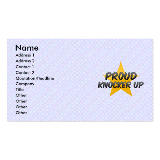 Proud Knocker Up Double-Sided Standard Business Cards (Pack Of 100)