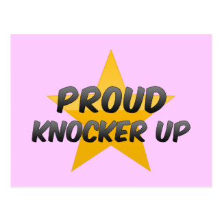 Proud Knocker Up Postcard