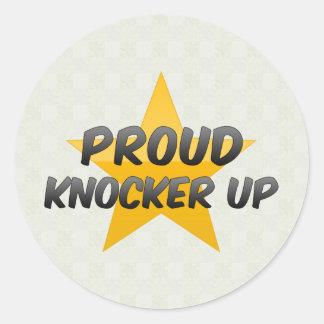 Proud Knocker Up Classic Round Sticker