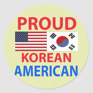 Proud Korean American Classic Round Sticker