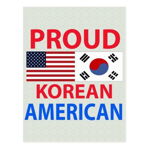 Proud Korean American Postcard