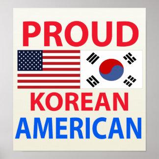 Proud Korean American Poster