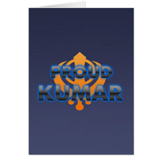 Proud Kumar, Kumar pride Card