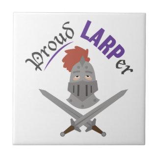Proud LARPer Small Square Tile