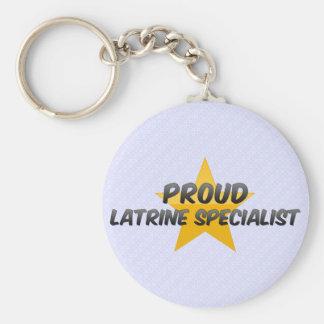 Proud Latrine Specialist Keychains