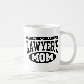 Proud Lawyer's Mom Classic White Coffee Mug