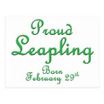 Proud Leapling Leap Year Birthday Postcard
