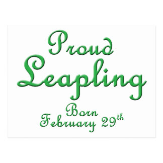 Proud Leapling Leap Year Birthday Postcards