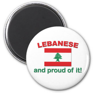 Proud Lebanese 2 Inch Round Magnet