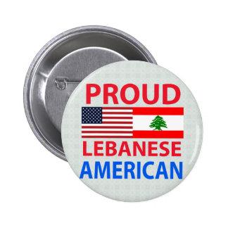 Proud Lebanese American Button