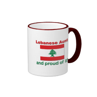 Proud Lebanese Aunt Ringer Mug