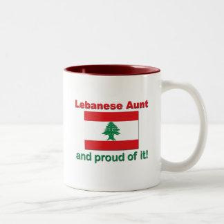 Proud Lebanese Aunt Two-Tone Coffee Mug