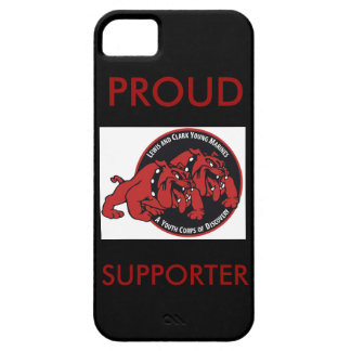 Proud Lewis & Clark Young Marines Supporter (Red) iPhone SE/5/5s Case