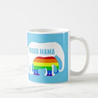 Proud LGBT Mama Elephant Coffee Mug
